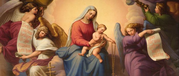 schildering van Maria met het kindje Jezus
