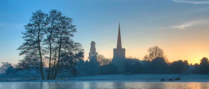 landschap met kerk
