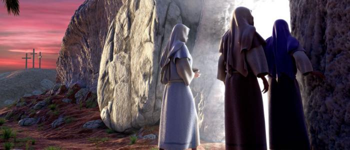 vrouwen bij het graf