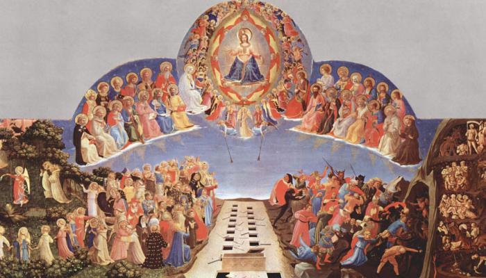 schildering van Jezus in de hemel