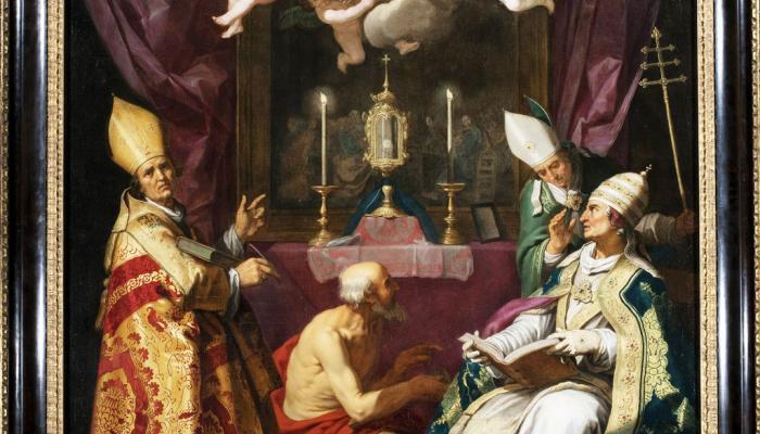 schilderij van de kerkvaders
